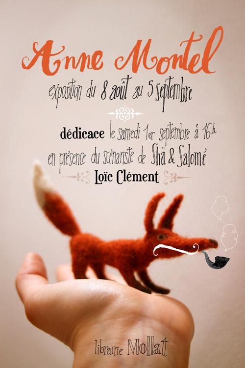 Affiche annonce pour une séance de dédicaces et une exposition à la librairie Mollat (Bordeaux)